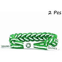 8f88b678f7a73 Equipo de Baloncesto de la NBA fanáticos Pulsera Tejido a Mano cordón  Ajustable Pulsera 2 Piezas