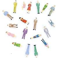 SODIAL(R) 100pcs Figures des Personnes Peintes pour Modele de Train(1 a 50)