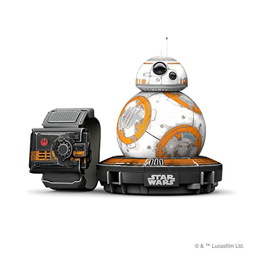 Sphero Bundle BB-8 Droide Interattivo Star Wars Edizione Speciale + Braccialetto Force Band, Compatibile iOS/Android e Windows Phone