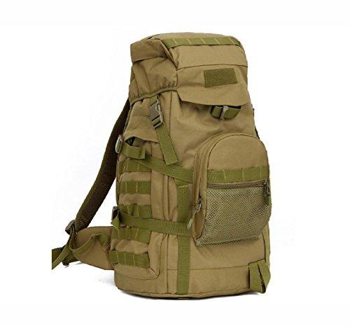 Neu Mode Outdoor Rucksack Tarnung Große Multifunktionale Bergsteigen Tasche Brown