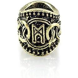 Cuenta con runa Mannaz metal dorado