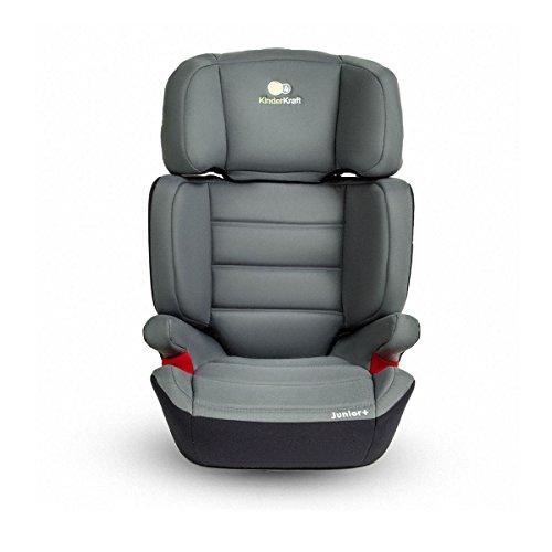 Kinderkraft Junior Plus OX Kinderautositz Autokindersitz Kindersitz 15 bis 36 kg Gruppe 2 3 Grau