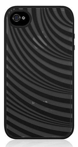 Belkin Essential 035 Silikonhülle (geeignet für Apple iPhone 4/4S) schwarz/weiß