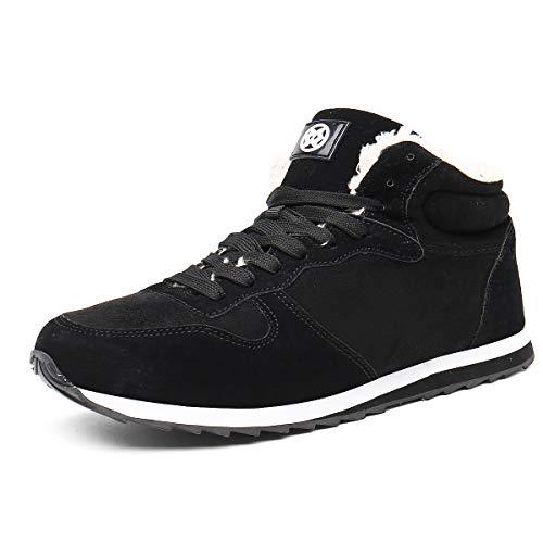 Botas de Nieve Hombre Mujer Zapatos Botas de Invierno Botines Planas Forro de Piel Al Aire Libre Zapatillas...