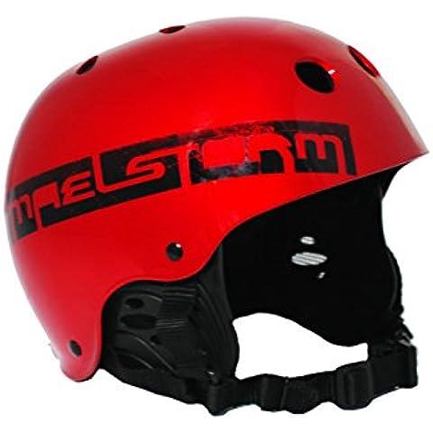 maelstorm Aqua Wave casco rosso metallizzato per kitesurf watesports KITE Windsurf Sci Nautico Jet Sci Sup Kayak Canoa