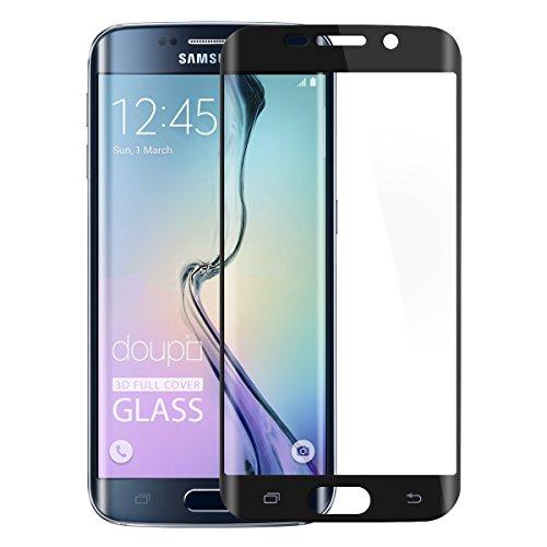 doupi 3D FullCover Premium 9H vetro temperato HD protezione dello schermo per Samsung Galaxy S6 Edge Plus Touch Screen Protector Tempered Glass Pellicola Protettiva, nero - Età Vetro