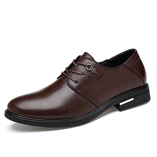 Homme Activité Commerciale Chaussures En Cuir Mode Chaussures De Sport Chaussures De Travail Fond Épais Euro Taille 39-44 Marron