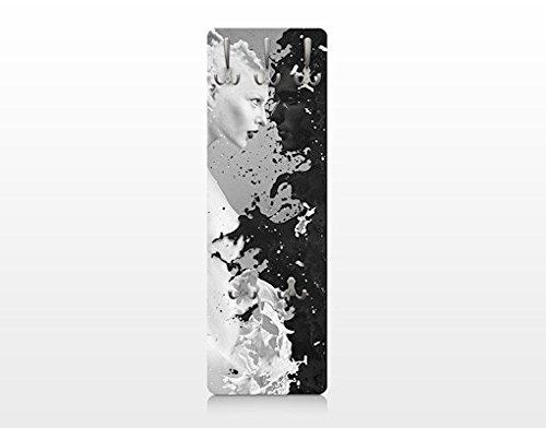 Bilderwelten 72995 - appendiabiti da parete milk und coffee ii, in legno, 139 x 46 cm