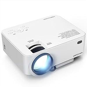 VidéoProjecteur, DBPOWER T20 Mini Projecteur, Projecteur Portable LED Full HD Support 1080P Livré Avec Câble HDMI USB / SD / VGA / AV Projecteur De Cinéma Maison-Blanc