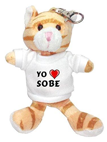 gato-marron-de-peluche-llavero-con-amo-sobe-en-la-camiseta-nombre-de-pila-apellido-apodo