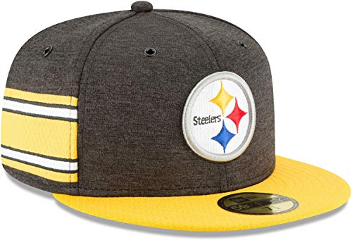 New Era NFL Pittsburgh Steelers Authentic 2018 Sideline 59FIFTY Home Cap, Größe :7 5/8 (Era Cap Home New)