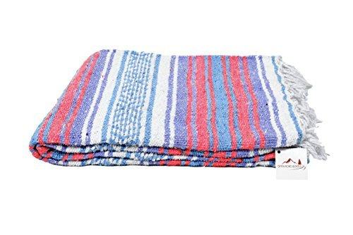 Mexikanischen Decke–Vintage Boho Pastell Farben. Toll Yoga Decke, Strand Decke, Picknick...