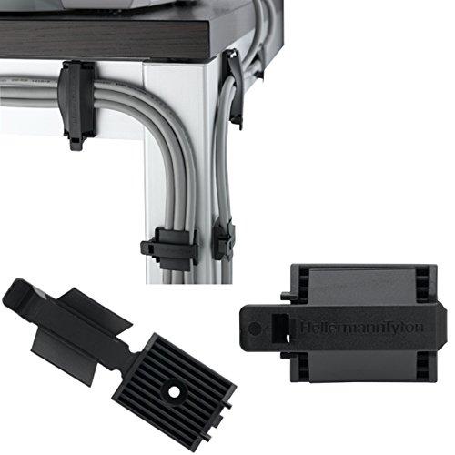 Preisvergleich Produktbild Hellermann Tyton FKH25A Kabel-Clips, 25 x 31 mm, 25 Stück