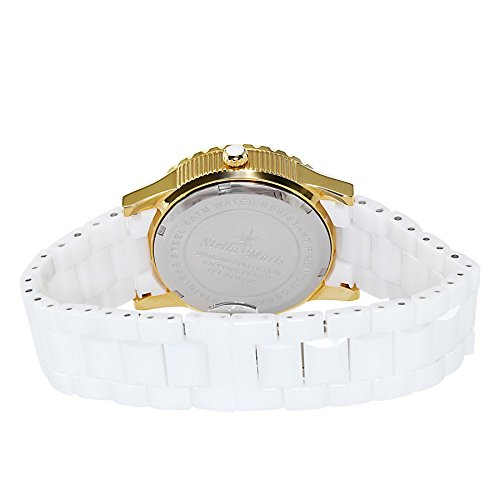 Stella-Maris-Womens-Quartz-Watch-with-White-Dial-Analogue-Display-White-Ceramic-Bracelet-and-Diamonds-STM15Z5