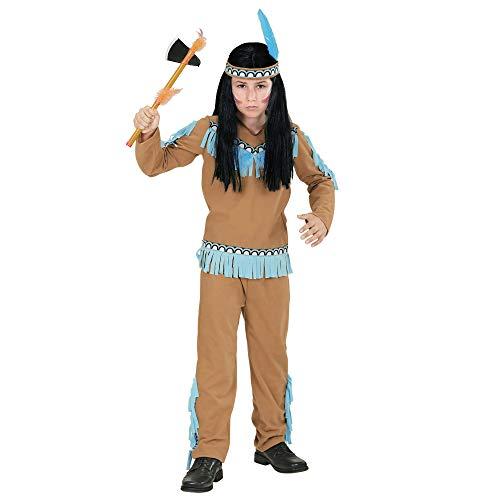 WIDMANN 06678 - Kinderkostüm Indianer, Mantel, Hose und Stirnband, braun, Größe ()