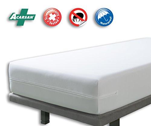 Matratzenbezug (VELFONT – Anti-Wanzen-Matratzenbezug, wasserdicht und atmungsaktiv – Matratzen-Höhe 15-30cm - verfügbar in verschiedenen Größen - 140x190/200cm)
