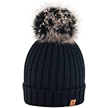 5e8fa88d43830 4sold Gorro de invierno de forro polar para mujer con cristales y pompón  multicolor
