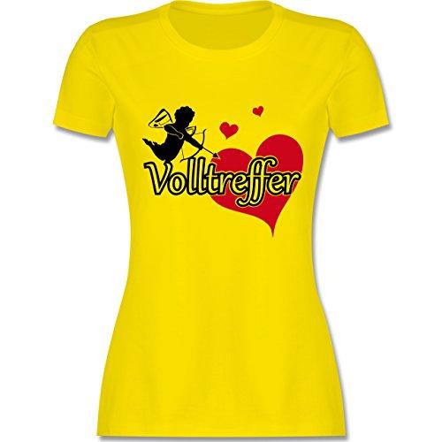JGA Junggesellinnenabschied - Volltreffer - tailliertes Premium T-Shirt mit Rundhalsausschnitt für Damen Lemon Gelb