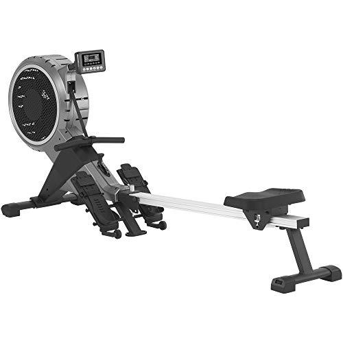 MAXXUS Rudergerät 7.4 - Rower In Studioqualität Als Trainingsgerät Für Zuhause - Leiser Luft- und Magnetantrieb, Klappbar, 120Kg Maximales Benutzergewicht -