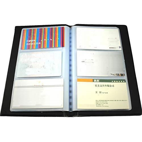 Leder 300 Karten Business Name ID Kreditkartenhalter Buch Fall Keeper Karte Organizer (Zelle Die Kostüm)