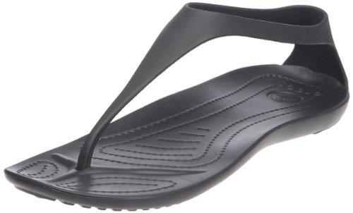 Crocs Sexi Flip Women, Damen Plateau, Schwarz (Black/Black), 39/40 EU -