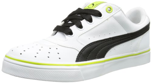 Puma Sky 2 Low Vulc, basket mixte adulte Blanc - Weiß (white-black 20)