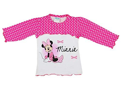 (Disney - Minnie Mouse Süsses Baby-Langarm-T-Shirt Mädchen 1 2 3 4 Jahre, gepunktet, in GRÖSSE 74 80 86 92 98 104 110 116 Baumwolle, tolles Geschenk, Pulli aus 100% Baumwolle Farbe Dunkel, Größe 92)