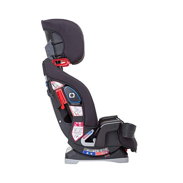 Graco Slimfit All-in-One Car Seat, Group 0+/1/2/3, Pearl Grey Graco 3 in 1 car seat can be used from birth up to 36 kg (approximately 12 years). rearward facing for longer from birth to approx. 4 years (0-18kg) Easily converts to and from the three riding positions; rear-facing harnessed seat (0-18kg), to forward-facing harnessed seat (9-18kg) and to high back booster (15-36kg) True shield safety surround side impact protection for enhanced safety 7
