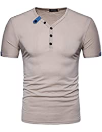 MISSMAO Camisetas de Polo de Manga Corta Para Hombre Wicking Transpirable Running Training Sports Tee Tops D9cmVhSL