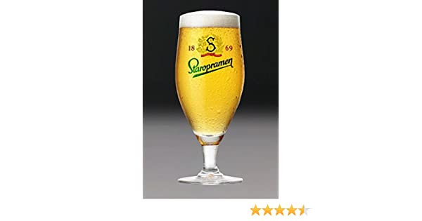 Personalised Engraved Staropramen Stemmed Beer Lager Glass With Gift Box