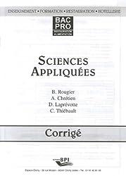 Sciences appliquées Bac pro restauration-alimentation : Corrigé