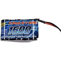 Carson 500608159–Batería Pack receptor de 6V, 1600mAh, NiMH, Hump