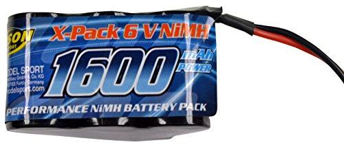 Carson 500608159–Pack Batterie Récepteur 6V, 1600mAh, NiMH, Hump