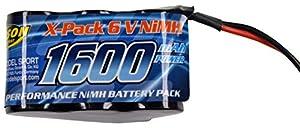 Carson 500608159-Batería Pack Receptor de 6V, 1600mAh, NiMH, Hump