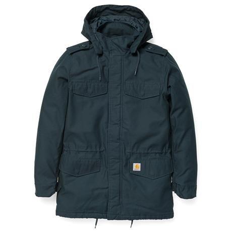 Carhartt-Uomo-Hickman Coat Blau XL