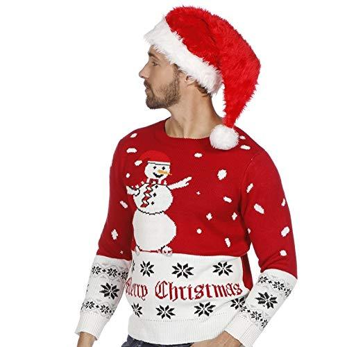 Weihnachts Pullover Schneemann Ugly Christmas Sweater Pulli Weihnachten S-XXL