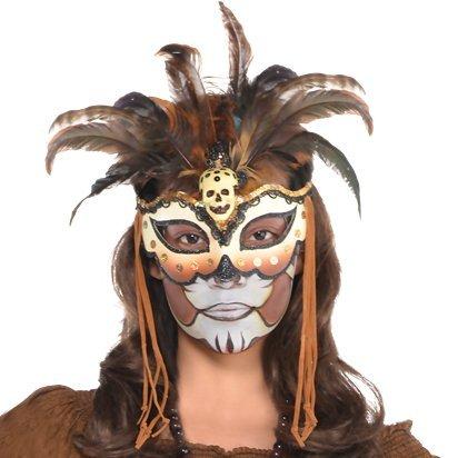 Witch Doctor Maske - Frauen Halloween (Halloween Für Jugendliche Kostüme Hübsche)