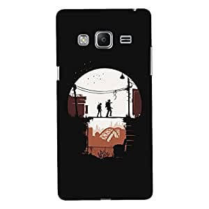 ColourCrust Samsung Galaxy Z3 Mobile Phone Back Cover With Travellers Quirky - Durable Matte Finish Hard Plastic Slim Case