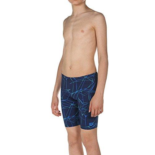 arena Jungen Badehose Water Jammer (Schnelltrocknend, UV-Schutz UPF 50+, Chlorresistent, Kordelzug), Navy (700), 164