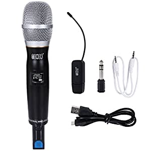 wireless karaoke microphone tonor vocal wireless microphone set with hand held dynamic. Black Bedroom Furniture Sets. Home Design Ideas