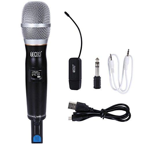 UHF Funkmikrofon Drahtloses Dynamisches Handmikrofon Audiokabel USB Lade (Für Sprache, Gesang und Instrumente) Mikrofon