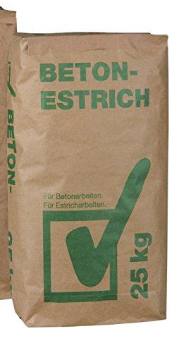 Estrich Beton 25 kg Beton- und Estricharbeiten im Haus und Garage (0,28€/kg)