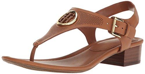 Tommy Hilfiger Damen KANDESS Sandalen mit Absatz, hautfarben, 40 EU (Womens Beach Line Boat Shoe)