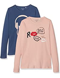 NAME IT Mädchen Langarmshirt 2er Pack