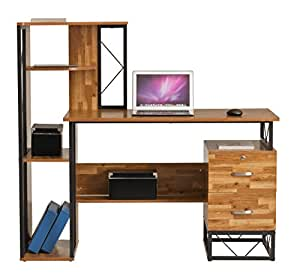 Computer Desk Laptop Workstation Pc Table Drawer Shelf Home Office Study Table Tajir Furniture