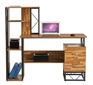 bureau d 39 ordinateur station de travail pour ordinateur portable pc table tiroir tag re home. Black Bedroom Furniture Sets. Home Design Ideas