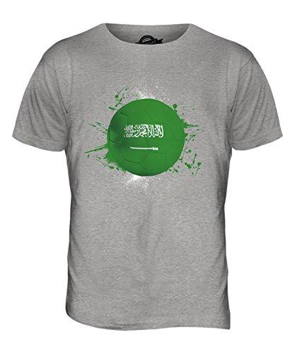 CandyMix Saudi-Arabien Fußball Herren T Shirt Grau Meliert