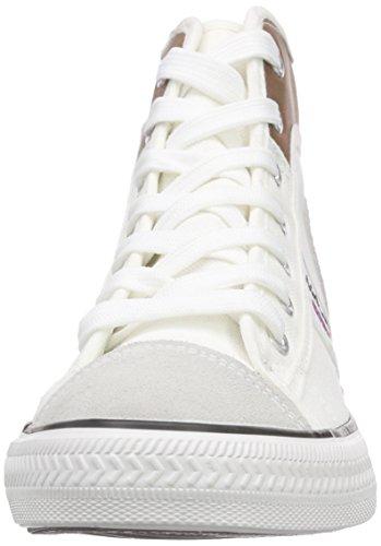 Nebulus Nevada, Baskets Basses Femme Blanc - Blanc