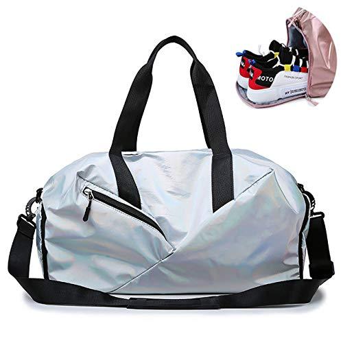 Miles Sail Yogamatte Fitness Sporttaschen Dry Wet Bag Sac De Sport Handtaschen Für Frauen Männer Tas Travel Training wasserdichte Sack gymtas Pool XA545A, GlitterSilber - Frauen Nike Glitter