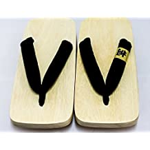 [Japón hecho a mano] geta auténtico tradicional sandalias de madera calzado con 2 tacones Paulownia-madera zuecos